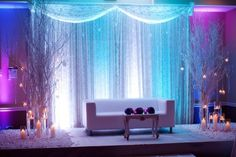 Winter wedding backdrop