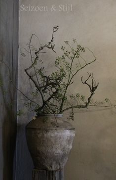 rose-hip branches in pottery urn Wabi Sabi, Pottery Pots, Terracota, Arte Floral, Vases Decor, Rustic Interiors, Ikebana, Natural Living, Flower Vases