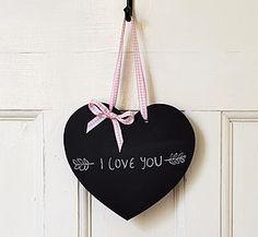 Handmade Heart Chalkboard - noticeboards