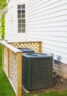 This is a good example of a good AC unit cover. There is proper airflow and the risk of overheating the compressor is less likely.