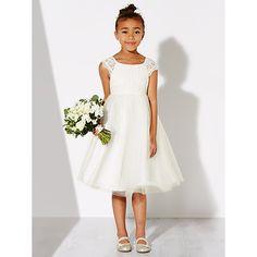 John lewis girls 39 empire line lace bridesmaid dress ivory for John lewis wedding dresses
