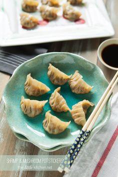 Shrimp and Mushroom Potstickers - The Little Kitchen