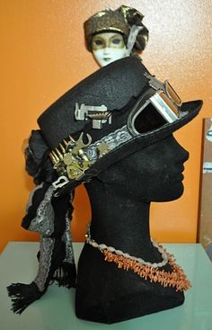 custom steampunk top hat