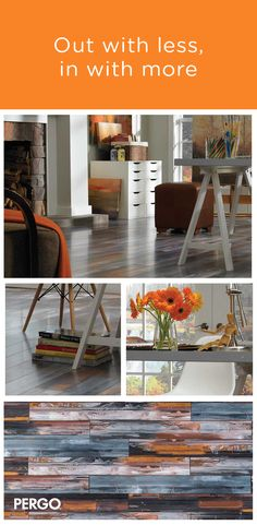 Get a laminate floor with a little inspiration. Capture the look of an artist's loft with this personality-filled Pergo floor. Bold splashes of beige, gray, black and white overlap in this floor for a totally unique look. Available in 1-strip planks, this floor features a smooth finish for additional flair.