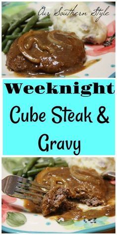Weeknight Cube Steak With Gravy - Thrifty Nifty Mommy Weeknight Cube Steak With Gravy - Thrifty Nifty Mommy<br> Cubed Steak Recipes Easy, Beef Cube Steak Recipes, Beef Cubed Steak, Steak On Stove, Salisbury Steak Recipes, Salisbury Steak Recipe Using Cube Steak, Chopped Steak Recipes, Hamburger Recipes, Skillet Recipes
