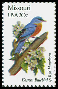 1982 20c Missouri State Bird & Flower - Catalog # 1977 For Sale at Mystic Stamp Company