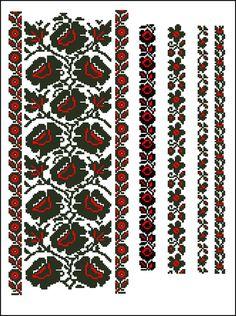 Схема вишивки хрестиком. Folk Embroidery, Cross Stitch Embroidery, Embroidery Patterns, Bead Loom Patterns, Cross Stitch Patterns, Folk Fashion, Embroidery Techniques, Bead Crochet, Loom Beading