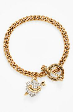 Juicy Couture 'Juicy at Heart' Charm Toggle Bracelet available at #Nordstrom