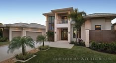 The Moderno Home (Plan# 6967) is one of the Sater Design Collection's new modern/contemporary house plans. www.saterdesign.com