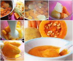 Potito de calabaza, patata y zanahoria