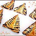 Sapins et flocon en pâte feuilletée