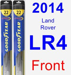 Front Wiper Blade Pack for 2014 Land Rover LR4 - Hybrid