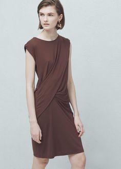 Draped detail dress -  Woman | MANGO
