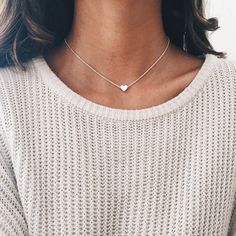 Silver Heart Chain Choker - Stargaze Jewelry