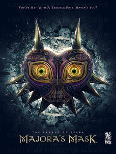 Legend of Zelda Majora's Mask Epic Game Poster - signed museum quality giclée…