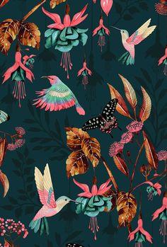 33 Ideas bird wallpaper iphone backgrounds print patterns for 2019 Bird Wallpaper, Pattern Wallpaper, Wallpaper Backgrounds, Iphone Wallpaper, Tropical Wallpaper, Iphone Backgrounds, Fabric Wallpaper, Art And Illustration, Illustrations