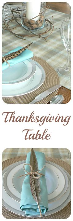 Thanksgiving Table. Pull wild grapevine from a tree for your table!