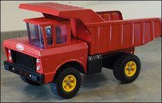 Custom Orange Hydraulic Dump