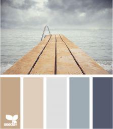 Mooie kleurencombinatie voor de slaapkamer: docked tones [Design Seeds].