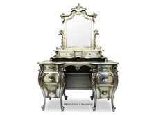 Rococo Dressing table from Fabulous & Baroque. I personally do not NEED a dressing table, but I simply love this because it is sooo over the top! Rococo Furniture, Vintage Furniture, Furniture Decor, Painted Furniture, Kitchen Furniture, Silver Furniture, Furniture Dolly, Outdoor Furniture, French Furniture