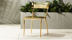 midas gold dining chair | CB2  Two of these would be a fun splurge