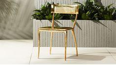 midas gold dining chair |