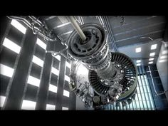 engine Boeing aircraft is so large that it has the size of the fuselage. Since 2014 GE Aviation has announced the creation of a new aircraft engin. Turbine Engine, Gas Turbine, New Aircraft, Aircraft Engine, Fluid Mechanics, Jumbo Jet, 3d Video, Jet Engine, Great Power