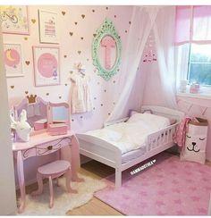 Kids Bedroom Furniture Design, Kids Bedroom Designs, Little Girl Bedrooms, Girls Bedroom, Cute Room Decor, Baby Room Decor, Toddler Rooms, Daughters Room, Bedroom Layouts