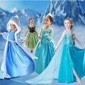 Rainha da neve roupas para o bebê da menina de Moda vestidos de festa roupas Anna Elsa meninas Princesa vestir trajes de Halloween para as crianças