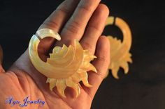 Ethnic MoP Earring Mayan Style Sea Shell Fake Gauge by ayujewelry, $14.50  http://www.etsy.com/shop/ayujewelry
