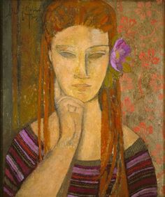 "Alfredo Roldán (via ""La flor malva / The purple flower"" Alfredo Roldán - Artwork on USEUM)"