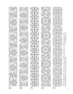 More blackwork patterns from a 16th century Italian sampler here…