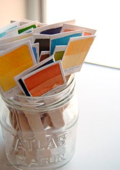 F Rgprover Paint Chip Cards On Pinterest Paint Chips
