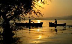 Fisherman, lake, landscape, photography, sunrise