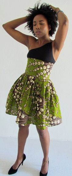 African Print Skirt by ifenkili on Etsy, $40.00