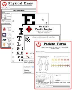 mini printable doctor office - Google Search