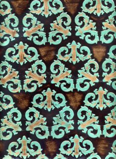 Leather Fabric, Leather Tooling, Upholstery, Turquoise, Awesome, Pattern, Beautiful, Brown, Decor