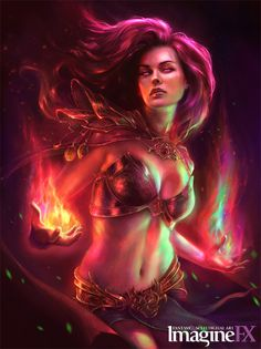 Sorceress Imagine FX Cover by MartaNael on deviantART
