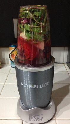 spring mix, strawberries, grapes, beets, cucumbers, apples, goji berries and pumpkin seeds #nutribullet #nutriblast