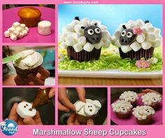 Foood Style: Funny Marshmallow Sheep Cupcakes idea !