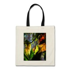 Begonia Leaves Abstract Pattern Tote Bag