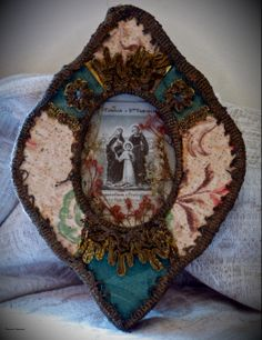 Registo Found Art, Holy Family, Assemblage Art, Mother Mary, Sacred Heart, Virgin Mary, Textile Art, Quilling, Catholic