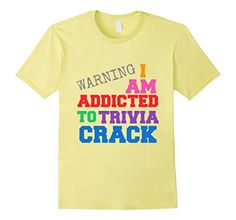 I Am Addicted To Trivia Crack T-Shirts  - Male Small - Lemon I AM ADDICTED TO TRIVIA CRACK http://www.redbubble.com/people/whoopyourads/works/14525662-i-am-addicted-to-trivia-crack?p=womens-fitted-v-neck&style=womens-fitted-v-neck&body_color=black&size=small&print_location=front