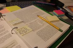 A creative way to use the margins of your textbooks.