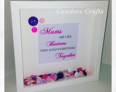 Mums Are Like Buttons Hold Everything Together - Button Picture Heart Christmas Gift Family Mum Mother by ButtonsandBobbinsUK