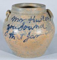 Rockingham County, VA Stoneware Jar, attrib. J.D. Heatwole