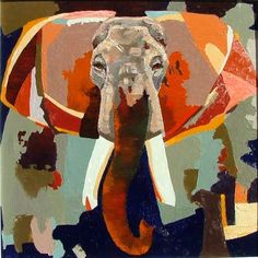 """""""World Elephant Day! #art #americanart #color #coolart #calranch #colorplay #crazycool #colorpalette #elephant #worldelephantday #funart #goodart #modernart #modernwildlifeart #nature #oilpainting #painting #russon #ronrusson #russonstudio #texture #utahart #utahartist #wildlife #wildlifeart"""" Photo taken by @ron_russon on Instagram, pinned via the InstaPin iOS App! http://www.instapinapp.com (08/12/2015)"""