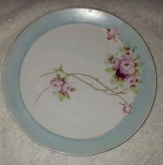 Beautiful Vintage Nippon Small Plate with Pink Flowers