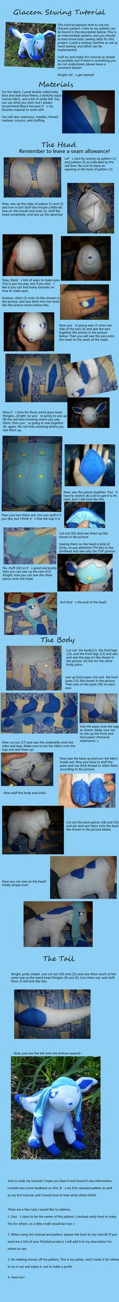 Glaceon Sewing Tutorial by garrenn.deviantart.com