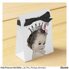 Pink Princess Girl Baby Shower Favor Box
